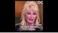 Trump, She, and Dolly: 'M NOT BEING  POLITICAL <p>This reporter desperately tried to get a Trump soundbite out of Dolly and she was not having it 😂</p>