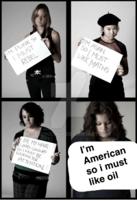 """Asian, American, and Hair: M PUNK So  MUST  IM ASIAN  50  O MUST  LIKE MATHS  REBEL  DYE MY HAIR  American  so i must  like oil  l'm  50 I MUST BE  LOOKING FOR  ATTENTIO <p>knock knock its the US, should we invest? via /r/MemeEconomy <a href=""""https://ift.tt/2pSZAPR"""">https://ift.tt/2pSZAPR</a></p>"""
