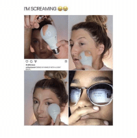 Lmao, Makeup, and Memes: M SCREAMING  21,355 views  ashleybluedef DOING MY MAKEUP WITH ALIGHT  BULB Lmao