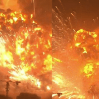 Drone, Memes, and Drones: m- Still one of the craziest explosions we've ever seen!  Photos of Tianjin aftermath: http://ebaum.it/tianjin_aftermath  Drone footage of the aftermath: http://ebaum.it/tianjin_drone