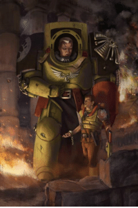 'Yes, I have a damn question... what wars must there be in creation that require warriors like you?' -Gerhart of the Black Templars as Aspirant Raclaw, on his first sight of a Space Marine  Wow, Terminator sure are big. So they are to humans what Primarchs are to Astartes. ~Coa: m 'Yes, I have a damn question... what wars must there be in creation that require warriors like you?' -Gerhart of the Black Templars as Aspirant Raclaw, on his first sight of a Space Marine  Wow, Terminator sure are big. So they are to humans what Primarchs are to Astartes. ~Coa