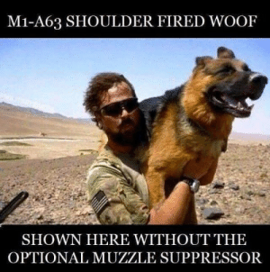 Best rifle Boi: M1-A63 SHOULDER FIRED WOOF  SHOWN HERE WITHOUT THE  OPTIONAL MUZZLE SUPPRESSOR Best rifle Boi