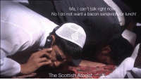 When you are trying to be a good Muslim boy but mums will be mums...: Ma, can't talk right now...  No do not want a bacon sandwich for lunch!  The Scottish Atheist When you are trying to be a good Muslim boy but mums will be mums...