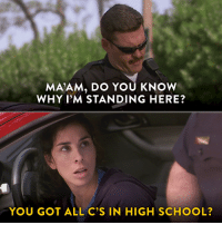 Hulu, School, and Target: MA'AM, DO YOU KNOW  WHY I'M STANDING HERE?  YOU GOT ALL C'S IN HIGH SCHOOL? Sarah Silverman is Your New Late-Night Host