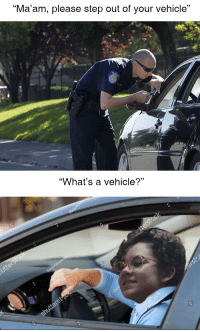 """Apple, Memes, and Http: """"Ma'am, please step out of your vehicle""""  """"What's a vehicle?"""" <p>Apple vs Search Warrants via /r/memes <a href=""""http://ift.tt/2nbn01B"""">http://ift.tt/2nbn01B</a></p>"""