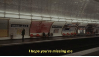 Hope, Youre, and Missing: MABILLON  I hope you're missing me