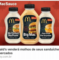 Memes, Fish, and Sauce: Mac Sauce  NOUVEAU  NOUVEAU  NOUVEAU  McChicken  ng Mac  Filet-O-Fish  Filet de poisson  MacPoulet  TARTAR SAUCE  355mL  ald's vendera molhos de seus sanduiche  mercados  ey.com.br Agora sim vi vantagem