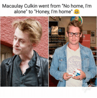 """Being Alone, Macaulay Culkin, and Memes: Macaulay Culkin went from """"No home, l'm  alone' to 'Honey, I'm home'  10 Look left kids, this is what one smonk of morejuano can do to you. 