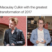 Macaulay Culkin, Memes, and Respect: Macaulay Culkin with the greatest  transformation of 2017  theblessedone 1 like = 1 respect