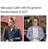 Funny, Macaulay Culkin, and Meme: Macaulay Culkin with the greatest  transformation of 2017  @theblessedone  644 You can't claim you're into memes, if you're not following @ladbible