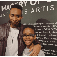 Met this amazing young man tonight. His name is Sidney, he's 11 years old and started his own book club to promote literacy among his peers. Follow him at @booksnbrosllc PositiveRoleModel Superstar: MACTR  ARTIS  AINT  IS With a mission to interpret the game of  World Chess Hall of Fa  4 show in Fall 2016/Wir  Igery of Chess, by show  of pieces from the ori  gery of Chess: Saint L  designers, musicia  d performance  int Louis Artists  all of Fame. Met this amazing young man tonight. His name is Sidney, he's 11 years old and started his own book club to promote literacy among his peers. Follow him at @booksnbrosllc PositiveRoleModel Superstar