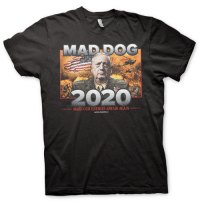 Bad, Trump, and Mad: MAD DOC  2020  MAKE OUR ENEMIES AFRAID AGAIN Liberals you think Trump is bad, it was between MAD DOG MATTIS & TRUMP!! CHOOSE WISELY!  Order yours 👉 https://bit.ly/2GmHvDS  #TRUMP2020 #MAGA   — Products shown: MAD DOG 2020 T-Shirt.