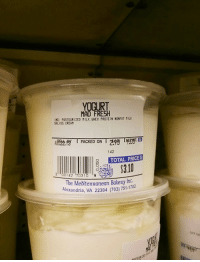 Protein, Mad, and Milk: MAD F  ING PASTEURIZED MILK.VHEY PROTEIN NONFİ ,ILK  ALIDS CRER  PACKED ON  142  TOTAL PRICES  The MediteRRanean Bakery Inc.  xandria, VA 22304 (703) 751-1702  Ale