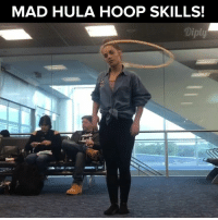 What else to do besides hula hoop while waiting for your plane. Credit, http://bit.ly/nosleeptillbrookelynn #diplyvideo: MAD HULA HOOP SKILLS! What else to do besides hula hoop while waiting for your plane. Credit, http://bit.ly/nosleeptillbrookelynn #diplyvideo