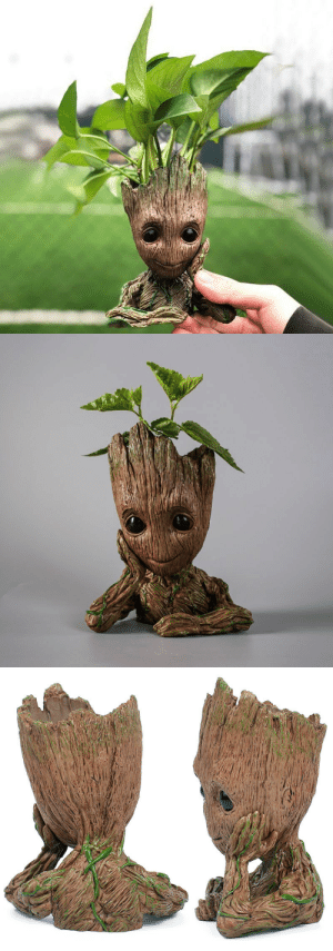 Birthday, Cute, and Family: mad-melodica:  introvertproblems: saltycaffeine:  Cute and Adorable baby GROOT flower pot that can be placed on your desk, or outside in the garden. Makes an AMAZING home decor! The perfect birthday present for your friends and family! USE CODE: GROOT FOR A DISCOUNT* GET YOURS HERE=