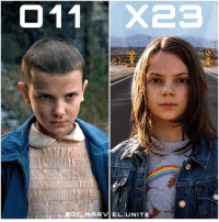 Memes, 🤖, and Killers: MADC MARVEL. UNITE Anyone else get the same Vibe from X23 in Logan as Eleven in StrangerThings ? That Scene in the New Logan Trailer where X-23 is stealing the Food from the grocery store resembles a lot to when Eleven stole the Eggo Waffles in Stranger Things. Marvel - Netflix ❌ These 2 together would be a Killer TeamUp.
