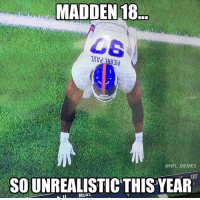 When you see it https://t.co/mNCxFMKQch: MADDEN 18  ONFL MEMES  EXIT  SO UNREALISTIC THIS YEAR When you see it https://t.co/mNCxFMKQch