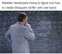 Nfl, How To, and How: Madden developers trying to figure out how  to create Shaquem Griffin with one hand:  구 Vy«E!  n),衍.뉴; xe.xi &  2  in  @GhetoGronk  E. 🤔🤔🤔