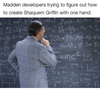 How To, How, and Madden: Madden developers trying to figure out how  to create Shaquem Griffin with one hand:  @GhettoGronk  Ex 🤔🤔🤔 https://t.co/wDttT0wAGY