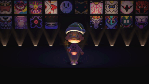 Made a gallery in Animal Crossing with most of the final Kirby bosses!: Made a gallery in Animal Crossing with most of the final Kirby bosses!