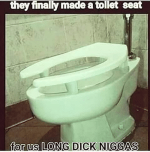 lmaooo: made a tollet seat  for (us LONG DICK NIGGAS lmaooo
