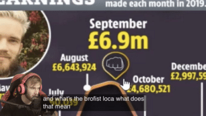Nice.: made each month in 2019.  September  £6.9m  August  £6,643,924  Decembe  October £2,997,59  24,680,521  lay  Julv  and what's  the brofist loca what does  that mean Nice.