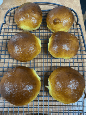 Made my own burger buns, so happy with how they turned out.: Made my own burger buns, so happy with how they turned out.