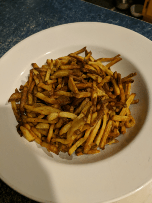 French, French Fries, and New: Made some french fries for my homies sorting by new