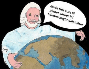 Cute, Lol, and Memes: Made this cute lil  planet earlier lol  dunno might delet l8ter  Late It isn't flat 🤔