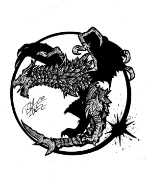 Made this sharpie Alduin design today! Really loved how it turned out and wanted to share on my favorite sub! What do you think?: Made this sharpie Alduin design today! Really loved how it turned out and wanted to share on my favorite sub! What do you think?