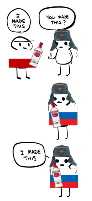 Russia, Poland, and You: MADE  THIS  You MADE  THIS ?  I MADE  THIS Poland made it, Russia shaped it