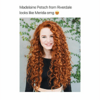 Girls with red hair are so beautiful 😍: Madelaine Petsch from Riverdale  looks like Merida omg Girls with red hair are so beautiful 😍