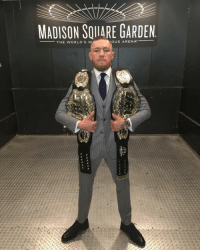 The Champ That is Conor McGregor 👏🏼👏🏼👏🏼: MADISON SOIIARE GARDEN  OUS ARENA  THE WORLD'S M The Champ That is Conor McGregor 👏🏼👏🏼👏🏼