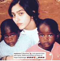 Madonna, Memes, and 🤖: madonna 3 Beauties! B Lola spends time  with twins, Stella and Esther at Home of  Hope orphanage: Madonna adopts twins from Malawi