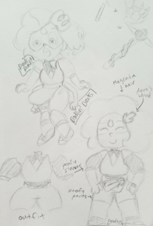 Tumblr, Blog, and Hair: Magenta  hair  Aqen's  poaly  Seevis  pats  outfit  Speakess  Dodin' Ds doodlin-doods:  unfortunately, someone else already beat me to the punch (and im kinda surprised by how similar our designs are???) and i havent thought of the gem yet…   but here's a fusion between the gemsonas of @i8ora-su and @elliesillustrations !!!!