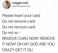Do Not Remove Card