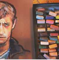maggie-stiefvater:  maggie-stiefvater: maggie-stiefvater: Needed to take a second to organize my brain between writing paragraphs so broke out the pastels. ye s fine maybe this is adam in dreamer trilogy era  maybe times are stressful in the dreamer trilogy not saying they are not saying they aren't  You guys, I just told you I wielded pastels with the finesse of a mallet, I wouldn't really analyze this for wrinkles/ age defying make-up/ complex canon teaserI held a pastel and made an Adam-shaped thing with an Adam facial expression since I have just finished writing about Adam with Adam facial expressions.You want him to look younger, I'll go back and squish out the edges, but HE'S STILL GONNA LOOK STRESSED CAUSE HE ISTHAT'S IT: maggie-stiefvater:  maggie-stiefvater: maggie-stiefvater: Needed to take a second to organize my brain between writing paragraphs so broke out the pastels. ye s fine maybe this is adam in dreamer trilogy era  maybe times are stressful in the dreamer trilogy not saying they are not saying they aren't  You guys, I just told you I wielded pastels with the finesse of a mallet, I wouldn't really analyze this for wrinkles/ age defying make-up/ complex canon teaserI held a pastel and made an Adam-shaped thing with an Adam facial expression since I have just finished writing about Adam with Adam facial expressions.You want him to look younger, I'll go back and squish out the edges, but HE'S STILL GONNA LOOK STRESSED CAUSE HE ISTHAT'S IT