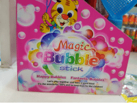 Magic  Bubble  Stick  Happy Bubbles  Fantastic Bubbles  Let's play together and have a  good time!  It's the wonderful 100% and so best toys for the children! Yes and also good is my the English!