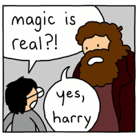 9gag, Memes, and Magic: magic is  real?!  eS  harry Believe in your spark Harry - Cr: @berkeleymews - hogwarts harrypotter 9gag comics hagrid