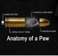 Freedom: MAGICAL FIRE DUST  BANG BUTTON  FREEDOM SEED  METAL HOLDY THING  Anatomy of a Pew