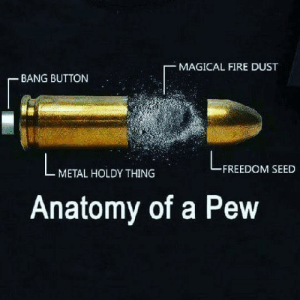 So that's how a pew-pew-pew works! by Intellectuallygifted FOLLOW HERE 4 MORE MEMES.: MAGICAL FIRE DUST  BANG BUTTON  FREEDOM SEED  METAL HOLDY THING  Anatomy of a Pew So that's how a pew-pew-pew works! by Intellectuallygifted FOLLOW HERE 4 MORE MEMES.