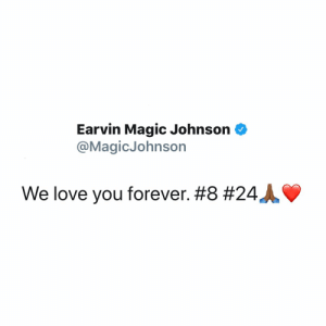 #MagicJohnson tweets his feelings about the loss of his great friend #KobeBryant! #RIPKobeBryant #RIPGiannaBryant 💔🙏 @magicjohnson @kobebryant https://t.co/XXfdLbpIXi: #MagicJohnson tweets his feelings about the loss of his great friend #KobeBryant! #RIPKobeBryant #RIPGiannaBryant 💔🙏 @magicjohnson @kobebryant https://t.co/XXfdLbpIXi