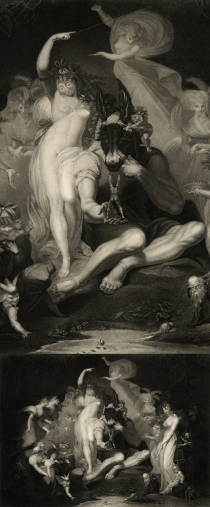 magictransistor:  John Peter Simon (after Henry Fuseli), A Midsummer Night's Dream; Act IV, Scene I, 1796.: magictransistor:  John Peter Simon (after Henry Fuseli), A Midsummer Night's Dream; Act IV, Scene I, 1796.