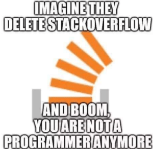 Boom, Stackoverflow, and Oh No: MAGINETHEY  DELETE STACKOVERFLOW  AND BOOM  PROGRAMMERANYMORE oh no!