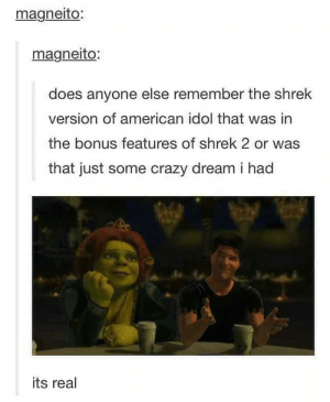 Shrek Cowellomg-humor.tumblr.com: magneito:  magneito:  does anyone else remember the shrek  version of american idol that was in  the bonus features of shrek 2 or was  that just some crazy dream i had  its real Shrek Cowellomg-humor.tumblr.com