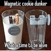 What a time to be alive!: Magnetic cookie dunker  What a time to be alive What a time to be alive!