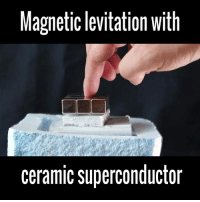 LIKE UNILAD Tech for more technological goodness 👌: Magnetic levitation with  ceramic superconductor LIKE UNILAD Tech for more technological goodness 👌