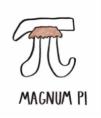 I mustache you a question? Is today Pi day?: MAGNUM PI I mustache you a question? Is today Pi day?