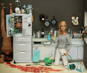Barbie, Crime, and Funny: magnusisms:  aeolus06:  the-peregrine-mendicant:  doomsong13:  fandomblogger:  i-am-funny-and-you-are-not:  0nehundred-sleepless-nights:  blainesbedroom:  diamondintherough96:  pudding-is-the-new-fondue:  just-a-cardboard-box:  a-very-not-royal-prince:  sociopathhasthephonebox:  you-cant-stop-the-moriparty:  OHMYGOD. Why would there be a bottle of wine on the stove?!  WTF Barbie you can't use a cutting board for a bulletin board  BARBIE! you should know better than to leave a cheese grater on the edge of the fridge! someone could get hurt!  Um, okay, DOES NO ONE REALIZE THAT BARBIE is cleaning her kitchen floor with a garden hose? Get it together, Barbie.  OH MY GOD BARBIE! ARE YOU JUST GOING TO LEAVE THOSE DIRTY DISHES IN YOUR SINK? SERIOUSLY GET IT TOGETHERBARBIE!  …Seriously? People. Wow. Open your EYES. Is NOBODY going to point out how Barbie is CLEANING HERFLOOR IN WHITE PANTS???  CLOSE THE DAMN REFRIGERATOR! YOUR LETTING ALL THGE COLD OUT!  Barbie, seriously? The blender on top of the fridge? You could get hurt!!1  Guys for the love of god how can you not notice the freaking rat next to the fridge?! WTF Barbie? Clean your housemore often, would ya?  Barbie, who the hell puts a calculator on their fridge. COME ON! GET WITH THE TIMES!  I love how everyone pretends not to notice the toaster next to the sink. BARBIE! YOU COULD GETELECTROCUTEDIF THAT FELL IN! GET YOUR SHIT TOGETHER GURL!  what the hell is wrong with you people???!?!?! omfg how can you not notice the fact the fridge has three layers of drawers on the bottom? what the fuck?? barbie fridges dont work that way im sorry  SERIOUSLY?!! YOU PEOPLE ARE SICK! CAN YOU SEE THAT A SERIOUS CRIME HAS BEEN COMMITTED HERE?!!  THAT WALLPAPER! IT'S HIDEOUS! Get a freakin' sense of style, woman!  theres a dead body