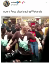 Chicken, Marvel, and Girl Memes: maha  @wallahi  Agent Ross after leaving Wakanda When the chicken seasoned just right 😂👌🏿 blackpanther marvel ( @iamnasary )